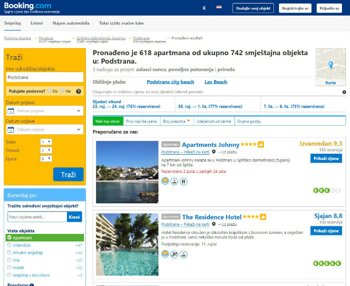 booking.com oglašavanje